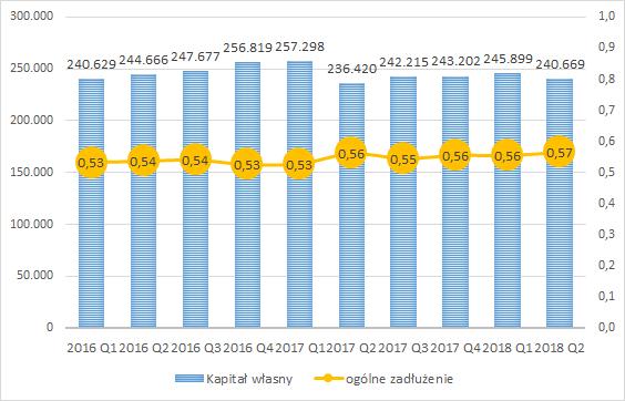PCC Exol, wskaźnik zadłużenia