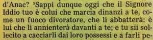 La Sacra Bibbia, Deuteronomio 9, 3