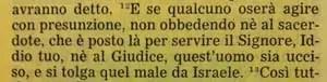 La Sacra Bibbia, Deuteronomio 17, 12