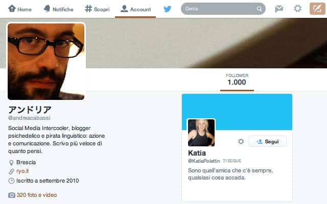 Millesimo follower su Twitter