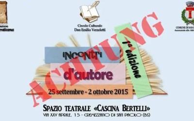 Presentazione Pelicula @ Cascina Bertelli Franzelli (achtung!)