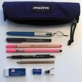 Nella mia borsa: astuccio strumenti di scrittura