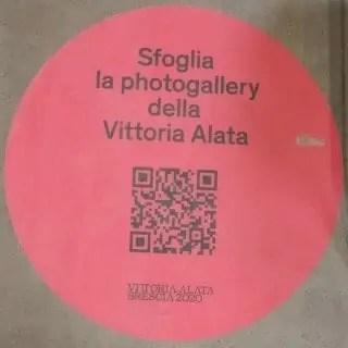QR code per vedere una gallery fotografica sulla Vittoria Alata