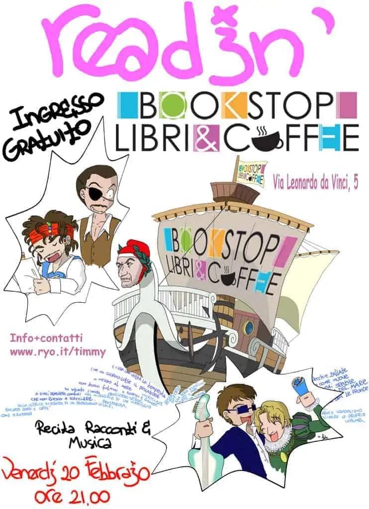reading @ libreriaCaffè Bookstop (achtung!)