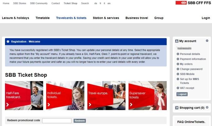 トップページへ戻りユーザー登録完了SBBサイト