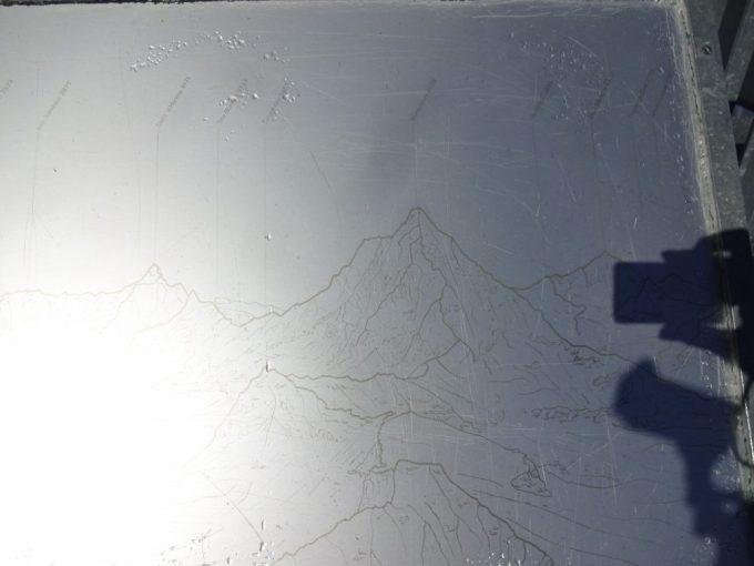 山頂の説明版