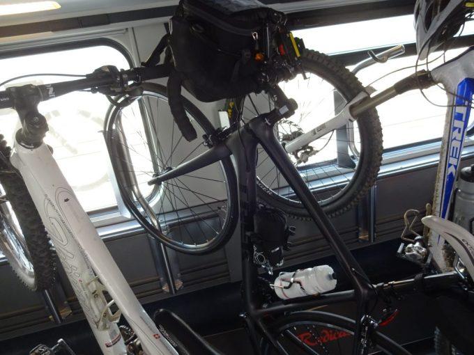 自転車を直接列車に