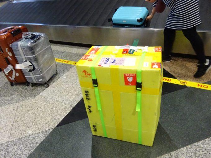 クアラルンプール空港での輪行箱