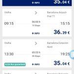 バルセロナへの輪行で使ったALSAバスもスマホでチケットが買えました
