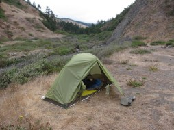 My campsite for the first night