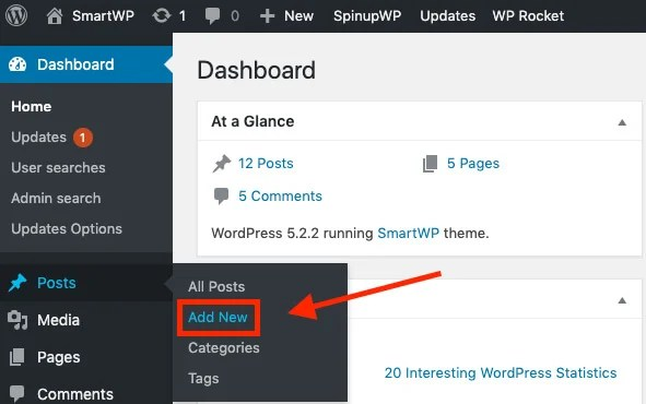 Write Your First Blog Post (Add New Post Screenshot) for Beginners