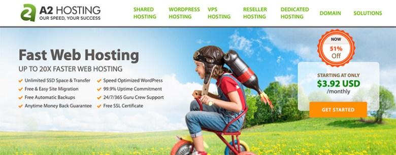 A2 Hosting Piano di hosting Web con fatturazione mensile con pagamenti mensili