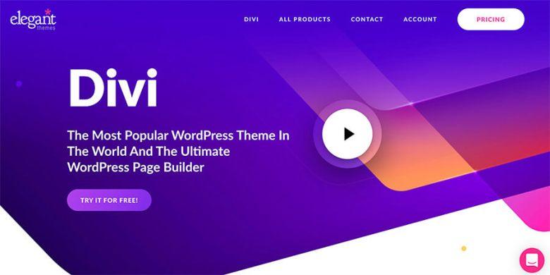 Divi by Elegant Themes come miglior contentor di temi WordPress per i blogger