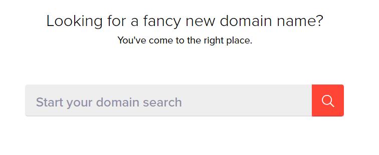 Voglio il mio nome Esempio di strumento generatore di nomi di dominio