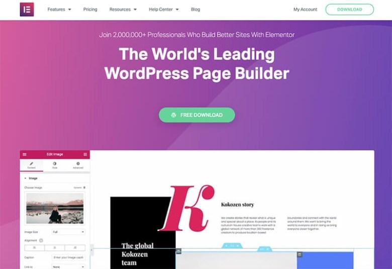 Elementor WordPress Page Builder per il tuo blog di viaggio