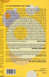 Couverture - La philosophie du Punk Craig O'Hara
