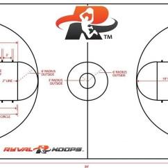 High School Basketball Court Diagram 1998 Toyota 4runner Wiring Ryval Hoops