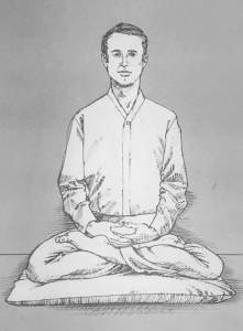 Illustration of man in full lotus