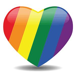 Rainbow heart image for the Rainbow Sangha