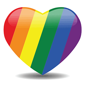 Rainbow heart image for the Rainbow Sangha