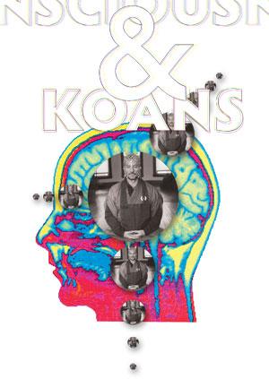 Graphic of meditator & brain