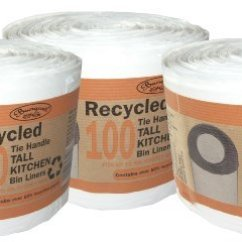 Tall Kitchen Bin Www Designs Layouts 300 Recycled Tie Handle Liners Fits Up To 50l Bins Rz Homestore