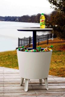 Outdoor Ice Cooler Table