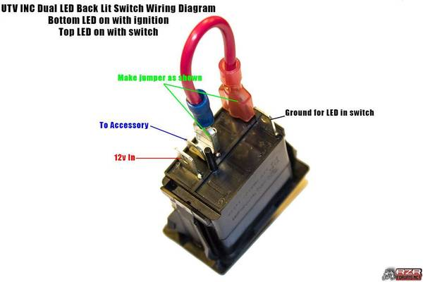 intercom wiring diagram carrier furnace parts 4wd rocker switch question - polaris rzr forum forums.net