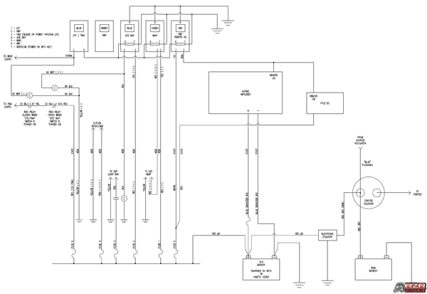 powertech dual battery isolator wiring diagram 98 toyota corolla installation polaris rzr forum forums net
