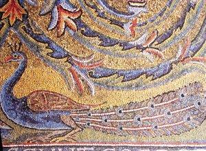Rzym - bazylika San Clemente - fragment mozaiki w absydzie