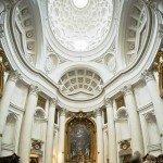 Rzym zabytki - kościół św. Karola Boromeusza przy Czterech Fontannach - wnętrze