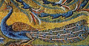 Rzym - bazylika św. Klemensa - fragment mozaiki