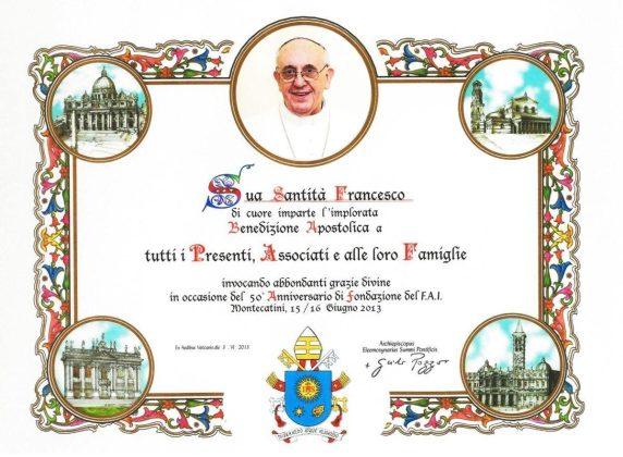 Watykan - dyplom błogosławieństwa papieskiego