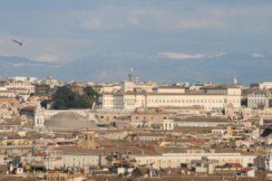 Pałac na Kwirynale - widok z kopuły św. Piotra
