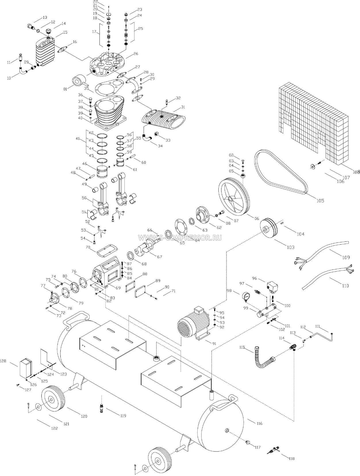 Запчасти для поршневого компрессора (поршневой головки