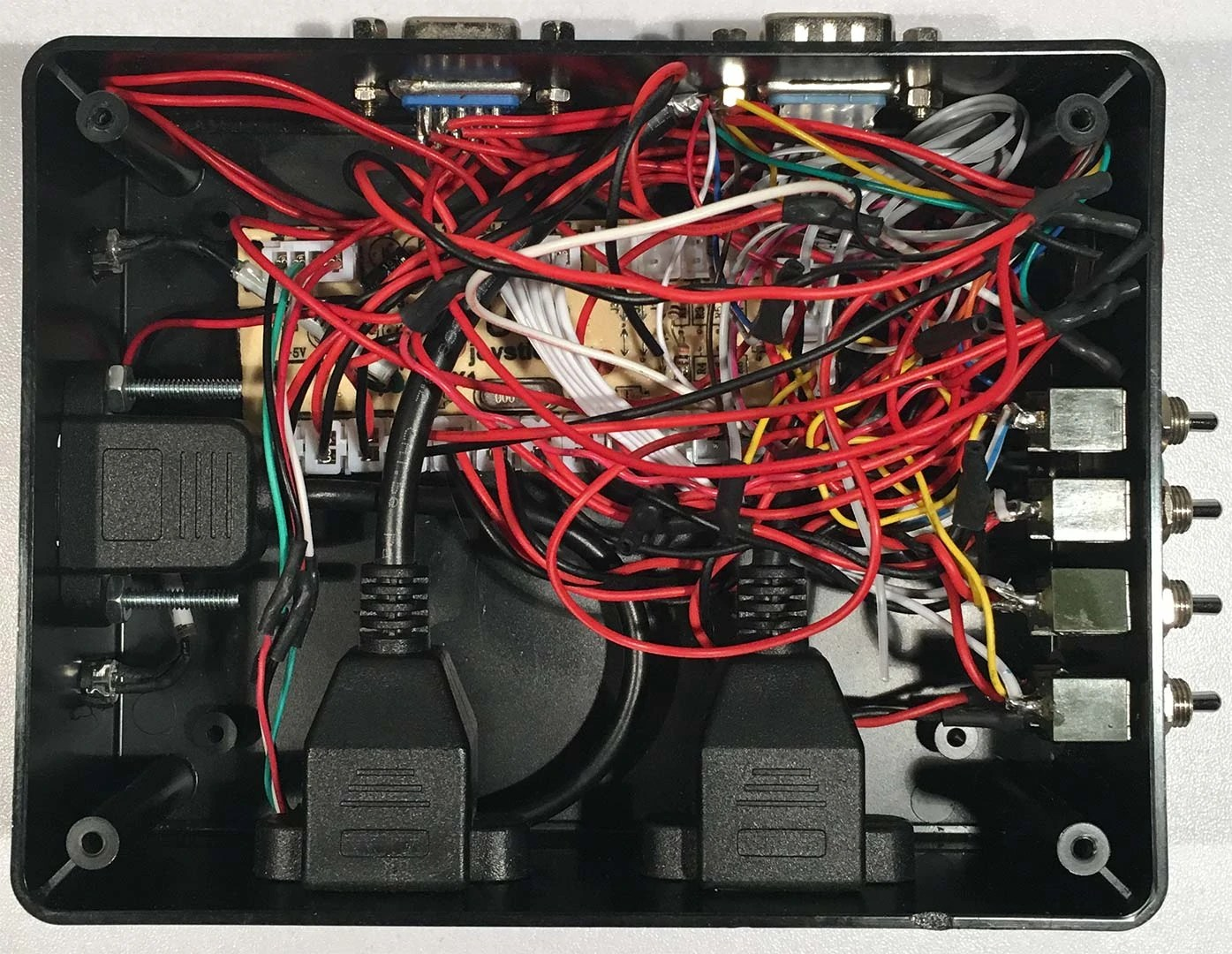 hight resolution of terrible wiring job of my joystick encoder board