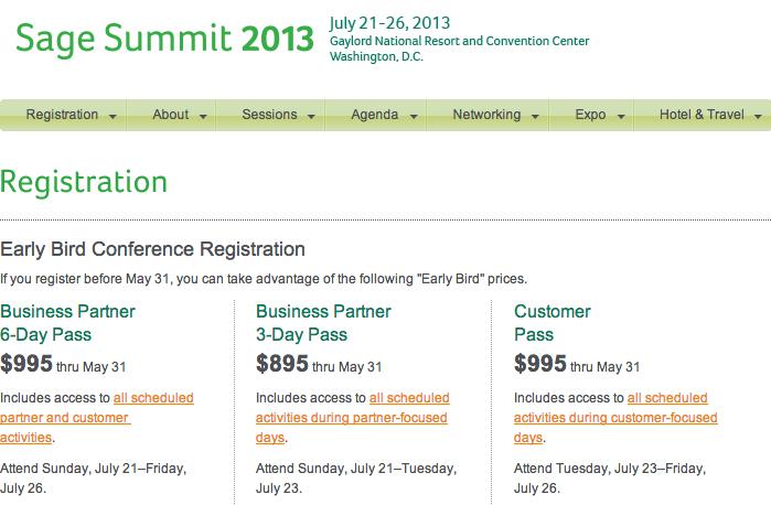 sage summit registration