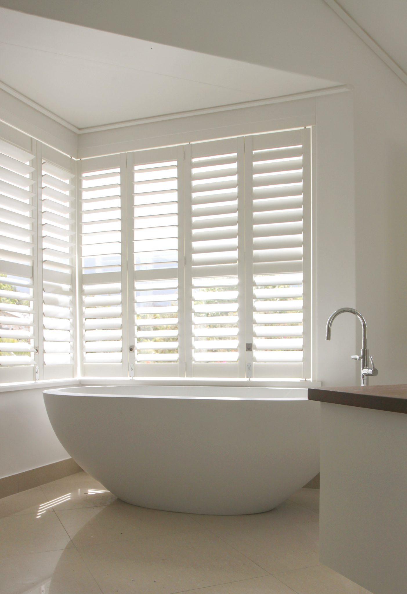 Waterproof Shutters For Bathroom or Shower Window Java