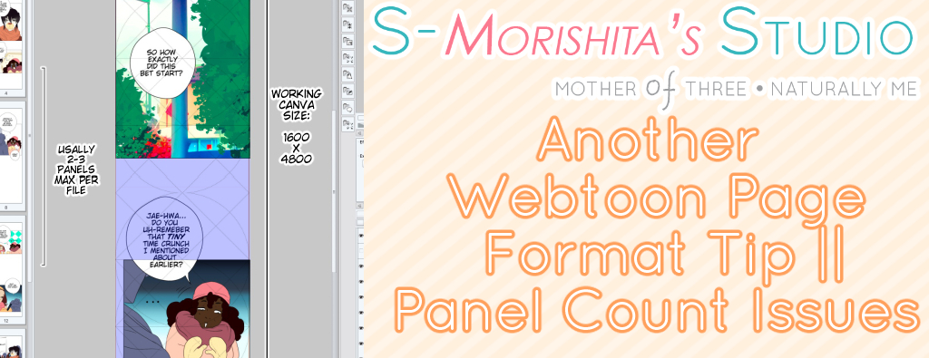 Another Webtoon Page Format Tip : Panel Size Issues