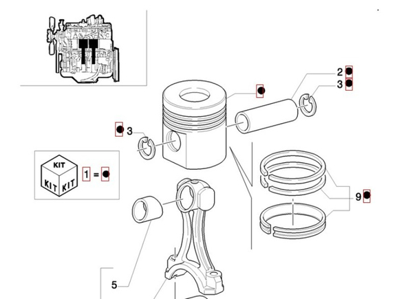 Поршень с кольцами СТД (FB100.2-200.2, LB90, LB110, LB115