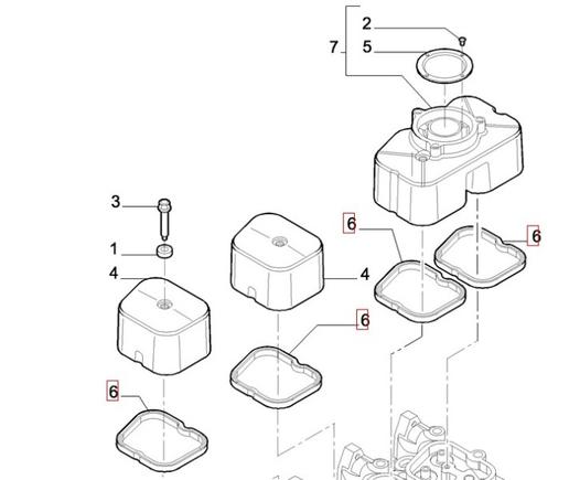 Прокладка клапанной крышки, Евро-2