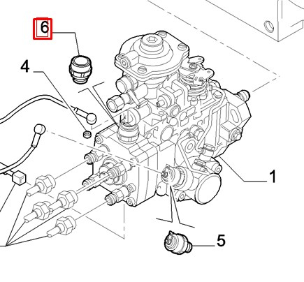 Клапан электромагнитный ТНВД (глушилка)