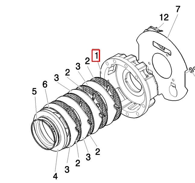 Корпус тормозного механизма правый (для круглых уплотнений)