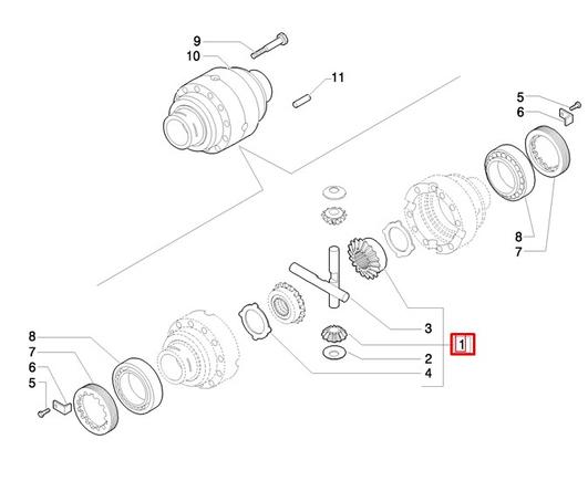 Комплект сателлитов дифференциала (дифф. без дисков)