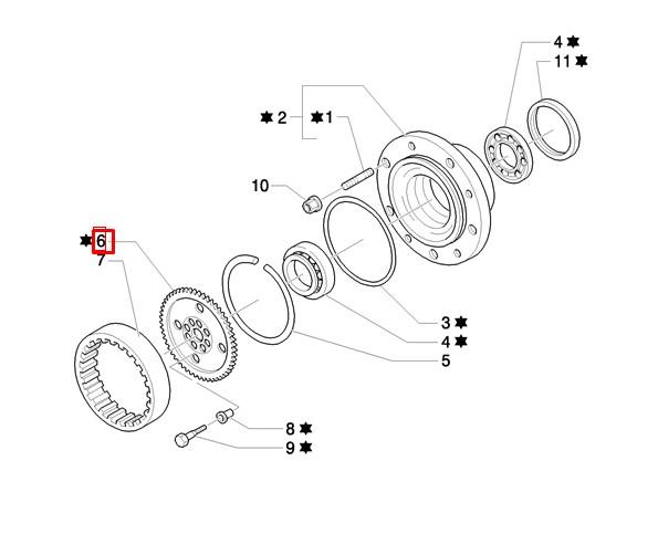Шестерня с отверстиями под болты (вариант) (равноколесник