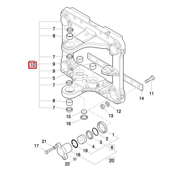 Каретка заднего оборудования 85801370