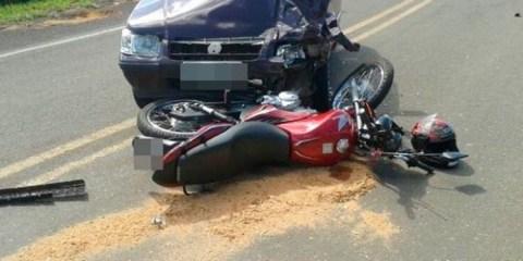 Colisão entre carro e moto deixa uma vítima em Tabira