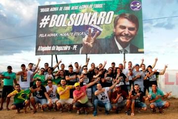 Inauguração do outdoor de Bolsonaro - Foto: Wellington Júnior