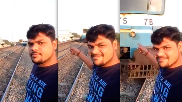 Jovem atropelado por um trem enquanto tirava selfie