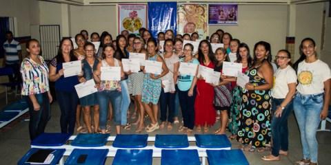 Entrega de certificados do curso de empreendedorismo para mulheres em Solidão – Foto: João Santos/ S1 Notícias
